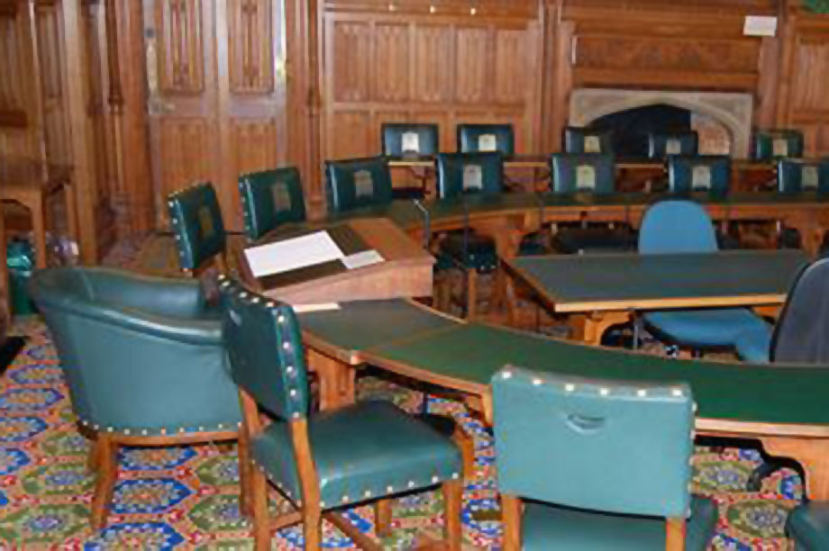 Parliamentary committee room