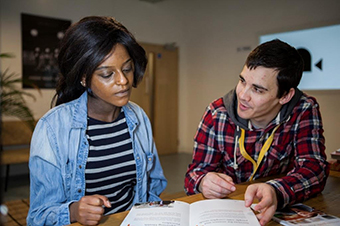 Peer Advisors at work in London (Photograph: St Giles Trust)