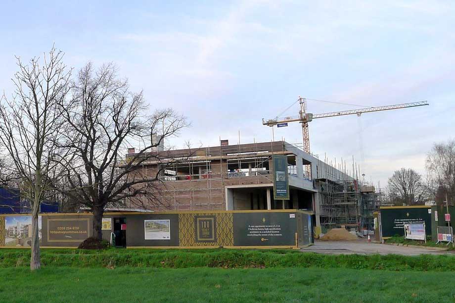 The redevelopment site on Putney Common