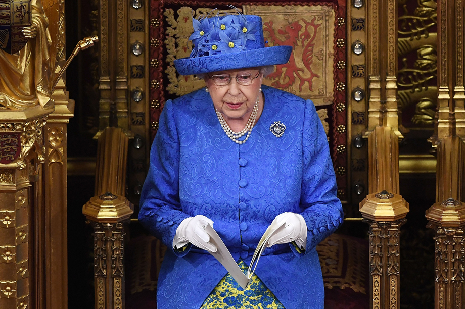 The Queen in parliament today