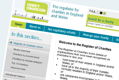 Charity Commission register
