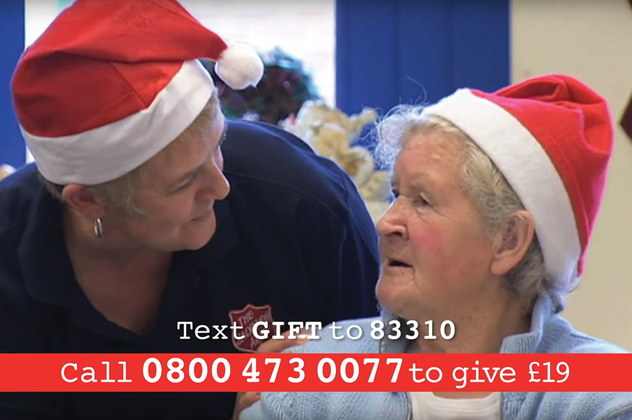 Effective: Salvation Army spends heavily on TV adverts at Christmas