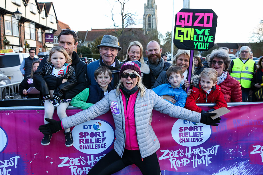 Zoë Ball was just one of many celebrities to take part