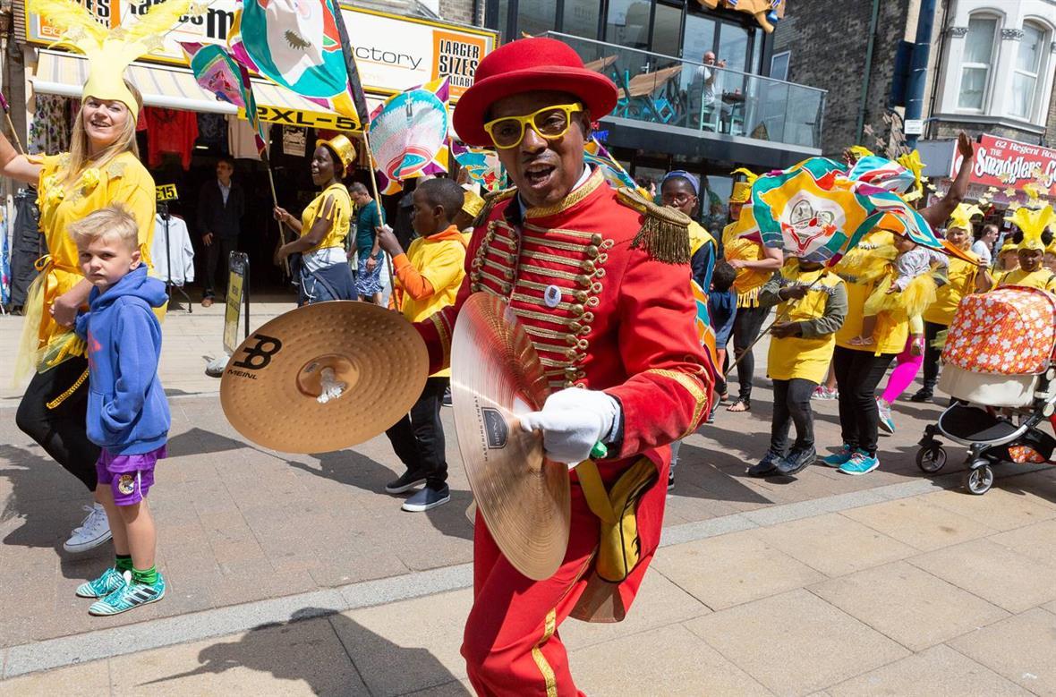 SeaChange Arts, Festa Fiesta 2018, part of the Great Yarmouth bid (Photograph: David Street, Streetview Marketing)