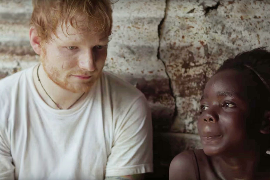 Comic Relief's use of celebrities such as Ed Sheeran has been criticised