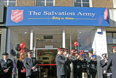 Charity shops opening in large numbers