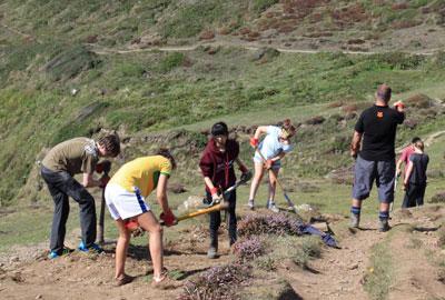 Young volunteers in Pembrokeshire