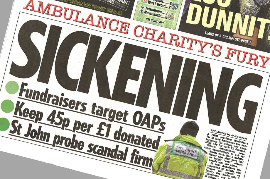St John Ambulance targeted by The Sun