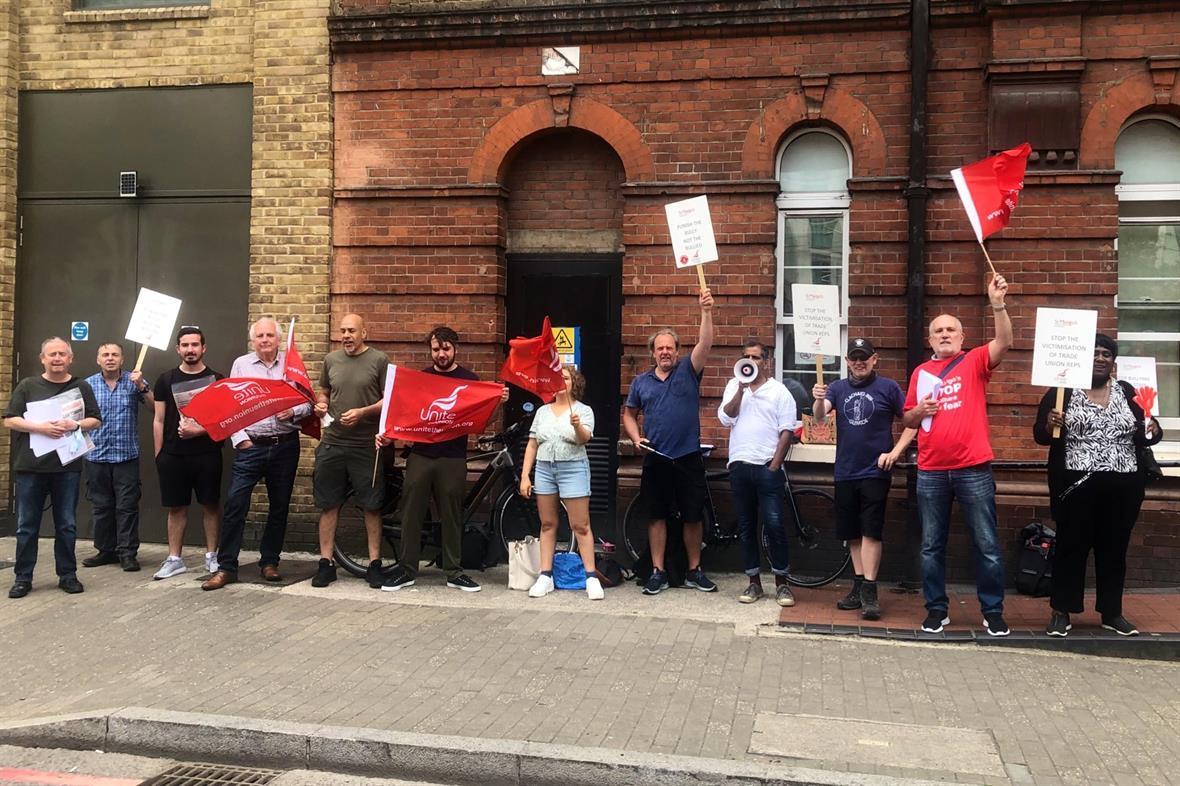 Maintenance staff at St Mungo's protest