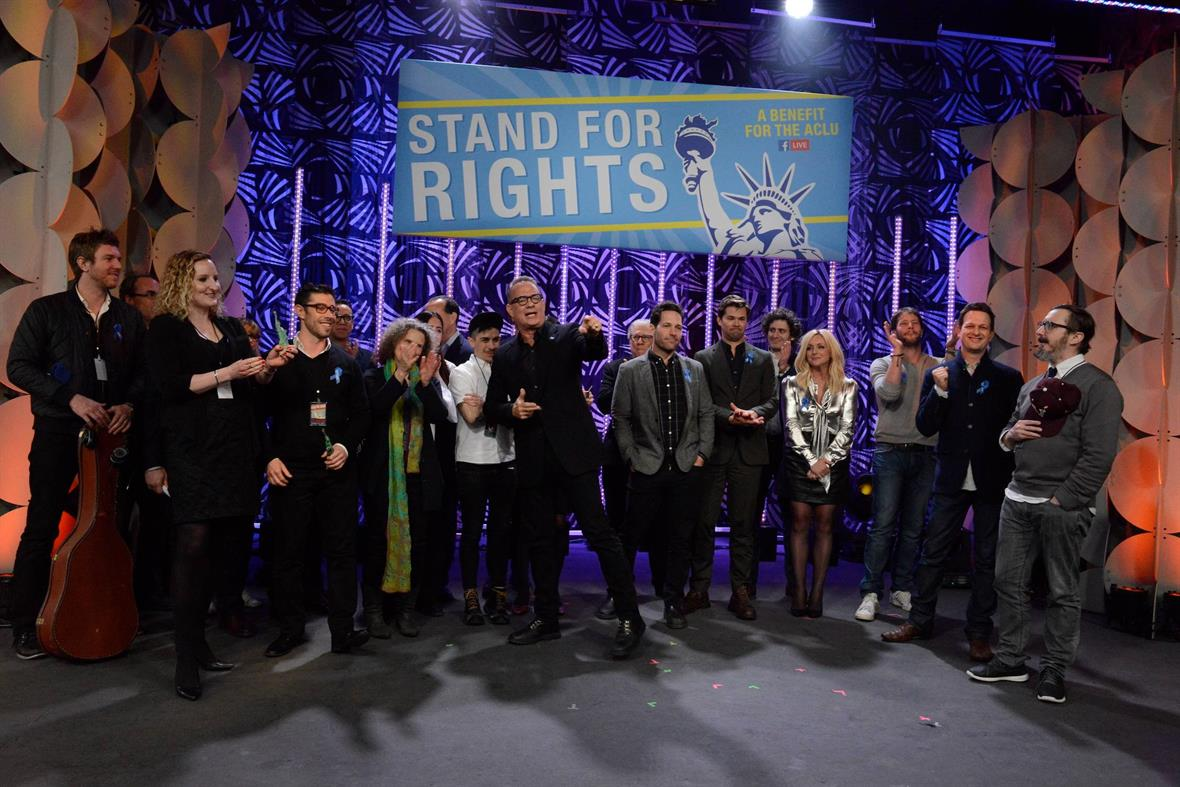 Celebrities at Stand for Rights: A Benefit for the ACLU in 2017 (Photograph: Dana Edelson/ACLU via Getty Images)