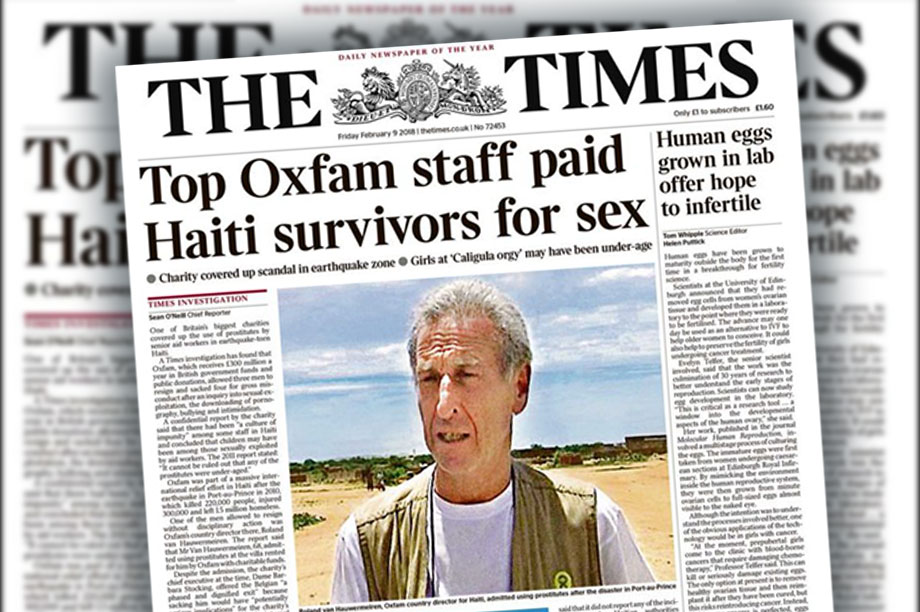 The Times story that broke the news