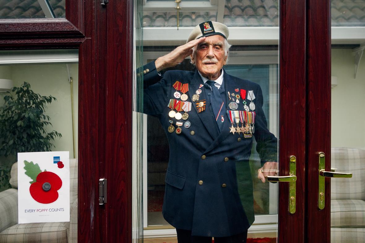 D-Day veteran and Poppy Appeal ambassador Bill Taylor