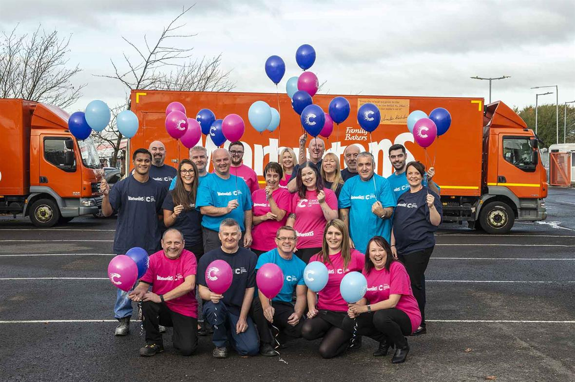 Warburtons staff supporting CRUK