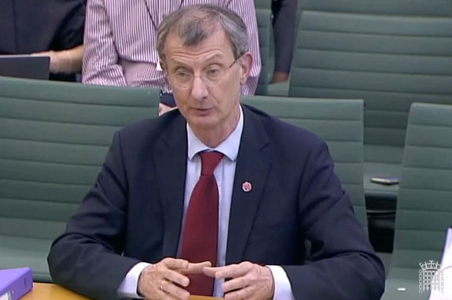 Watkins gives evidence to MPs
