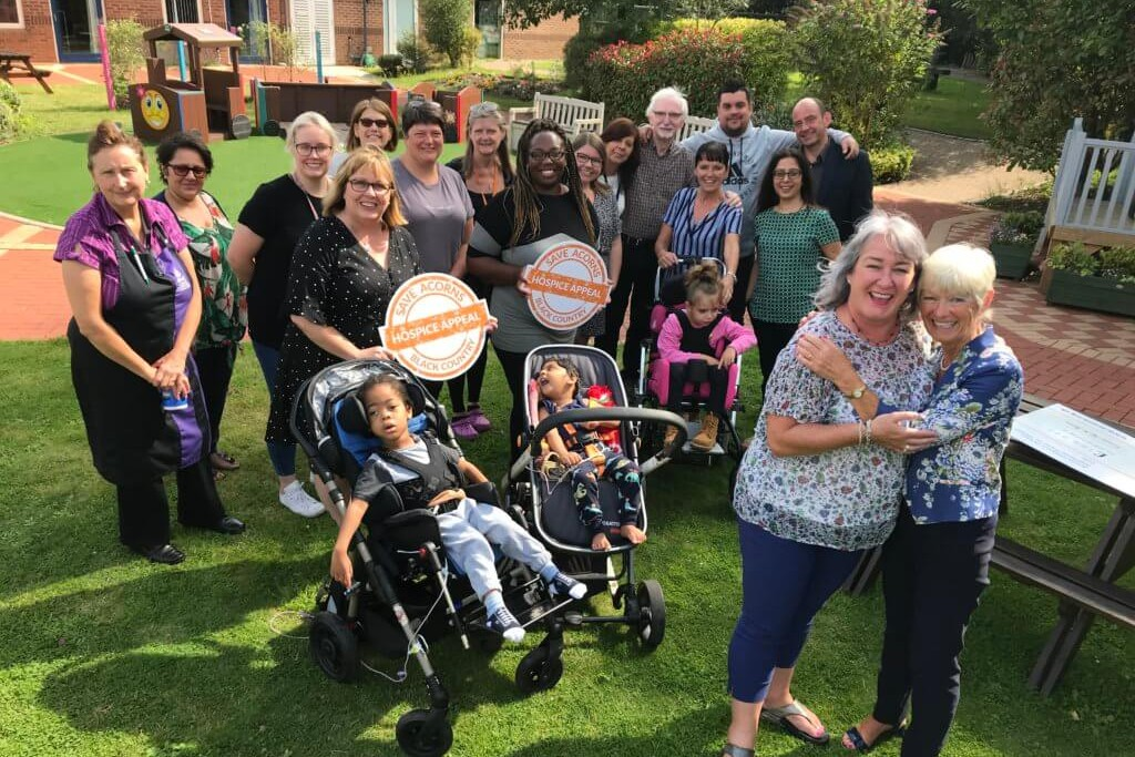 Erica Brown, far right, at the Walsall hospice