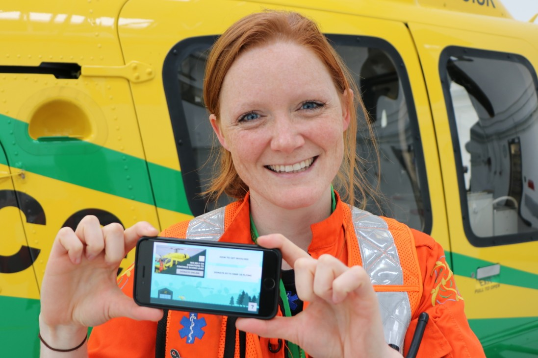 Paramedic Sophie Holt with the game