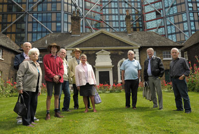 Residents of United St Saviour's Charity almshouses