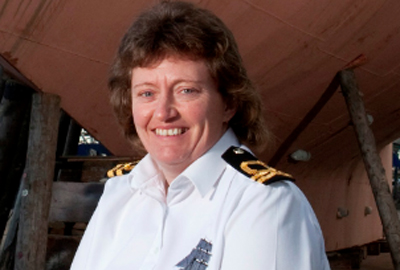 Angie Morris is commanding officer of the TS Royalist, a ship run by the charity Sea Cadets