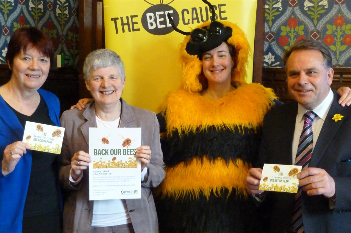 A Bee Tea, hosted by the National Federation of Women's Institutes and Friends of the Earth in the Houses of Parliament