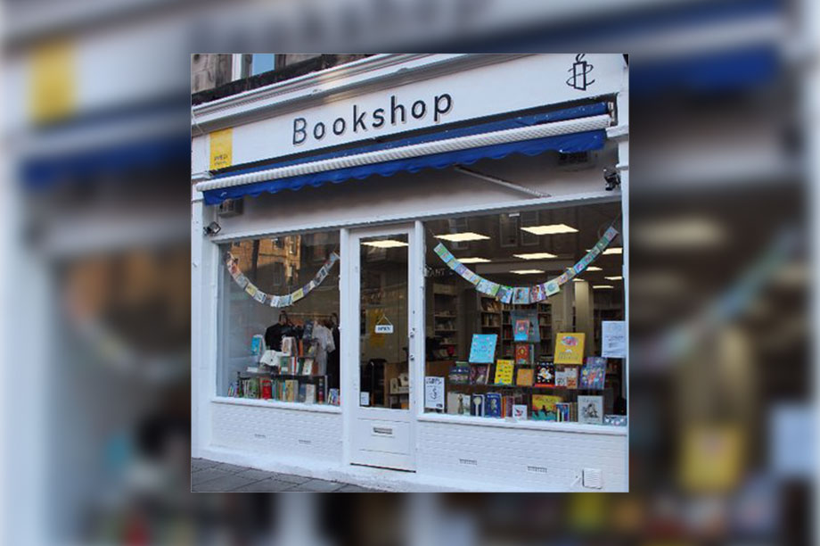 Amnesty International UK's Edinburgh bookshop
