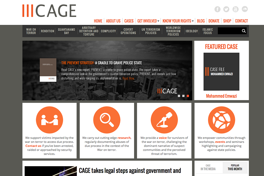 Cage: seeking legal advice