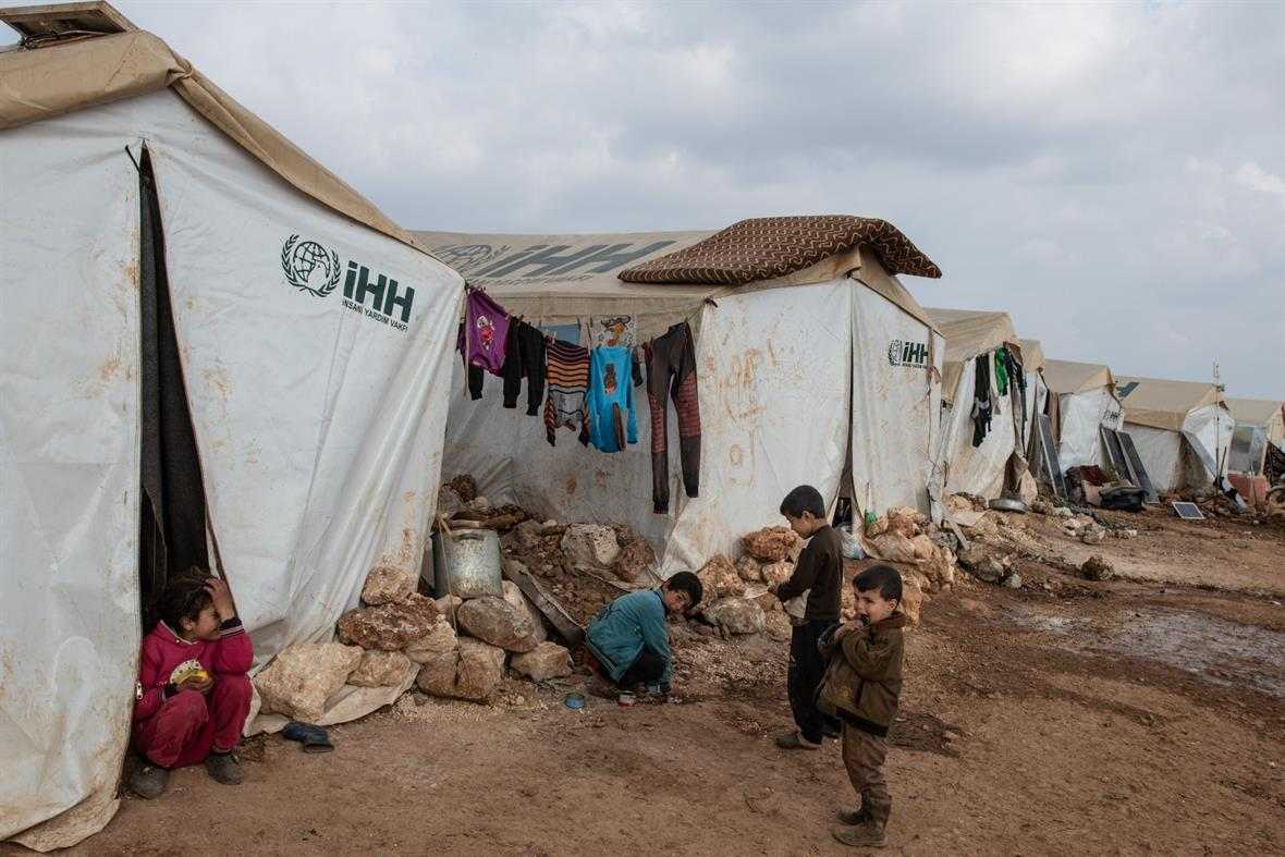 A refugee camp in Syria (Photograph: Burak Kara/Getty Images)