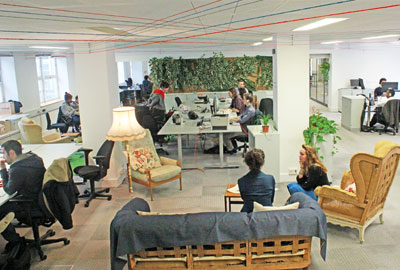 The Collective has created affordable work spaces