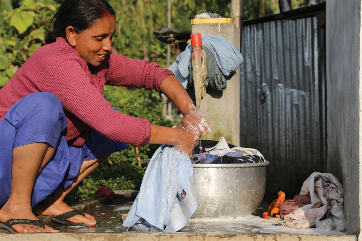 A water pipe in Darjeeling provided by WaterAid as part of the partnership