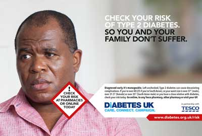 Diabetes UK's new advertising campaign
