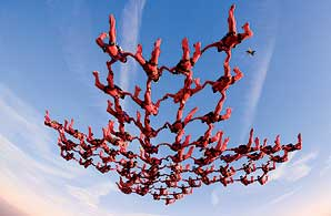 Skydivers. Picture: Willy Boeykens (www.skycam.be)