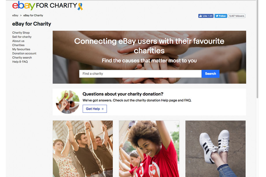 Ebay For Charity Raised 22 5m For Charities In 2018 Third Sector