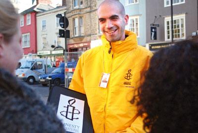 Amnesty International street fundraisers