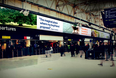 What the screens will look like at Waterloo station