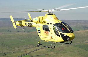 The Yorkshire air ambulance. (Photo: David Gardner)