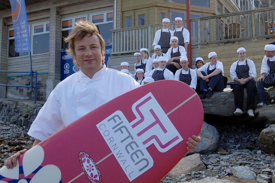 Jamie Oliver at Fifteen Cornwall (Photograph: Barry Batchelor/PA Wire/PA Images)