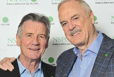 John Cleese [R] pictured with Michael Palin