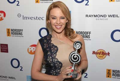 Kylie Minogue: O2 Silver Clef Award Winner