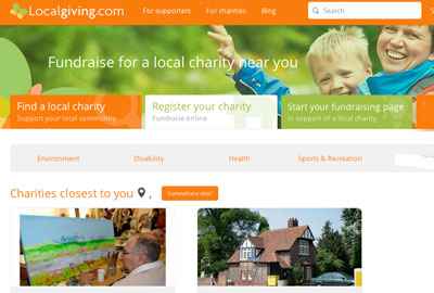 Localgiving.com will receive funding from the Cabinet Office