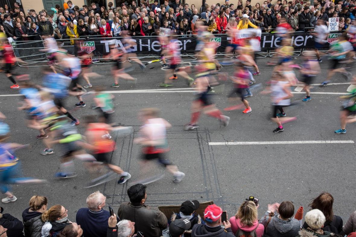 Runners at the London Marathon last year (Photograph: Jeff Gilbert/Alamy Stock Photo)