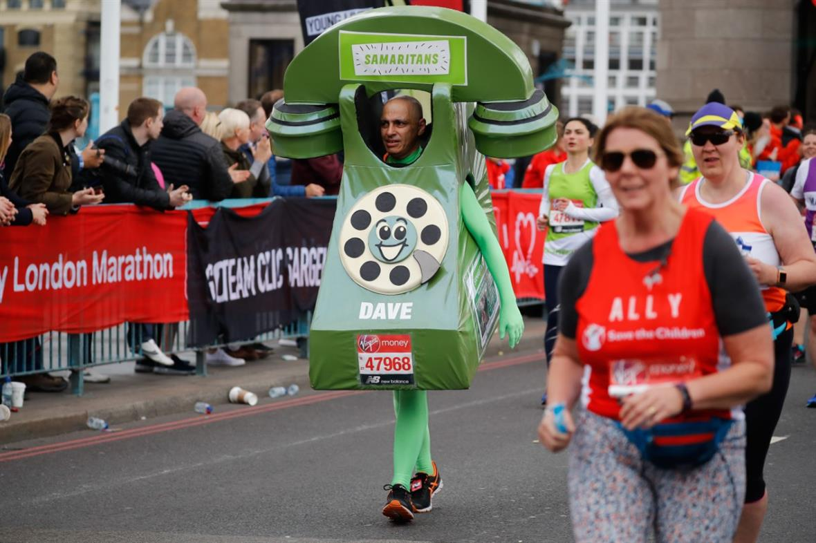 Runners at last year's London Marathon (Photograph: Tolga Akmen/AFP via Getty Images)