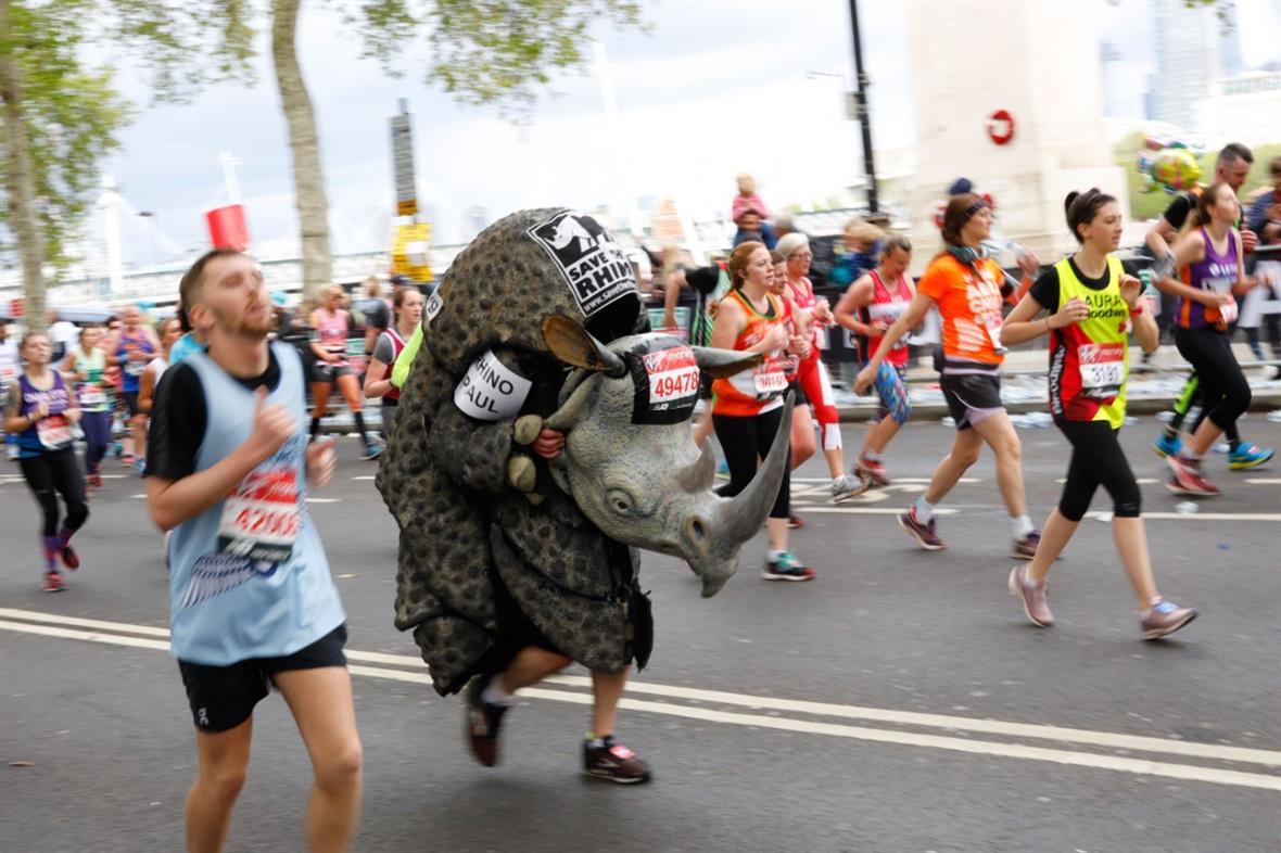 London Marathon (Photograph: TOLGA AKMEN/AFP via Getty Images)