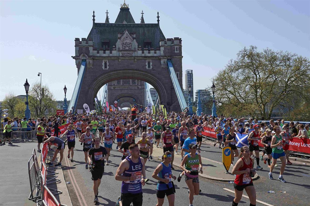 The London Marathon (Photograph: Niklas Halle'n/AFP via Getty Images)