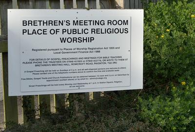 Brethren meeting room