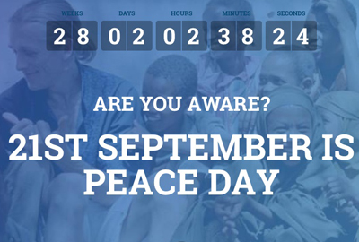 Peace One Day's new site is compatible with multiple platforms