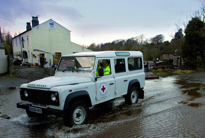 Jaguar Land Rover helps the British Red Cross to provide support in rural areas