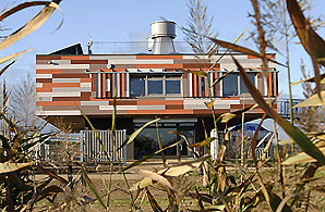 The RSPB's Rainham Reserve building. Photo: Simon Williams for the RSPB