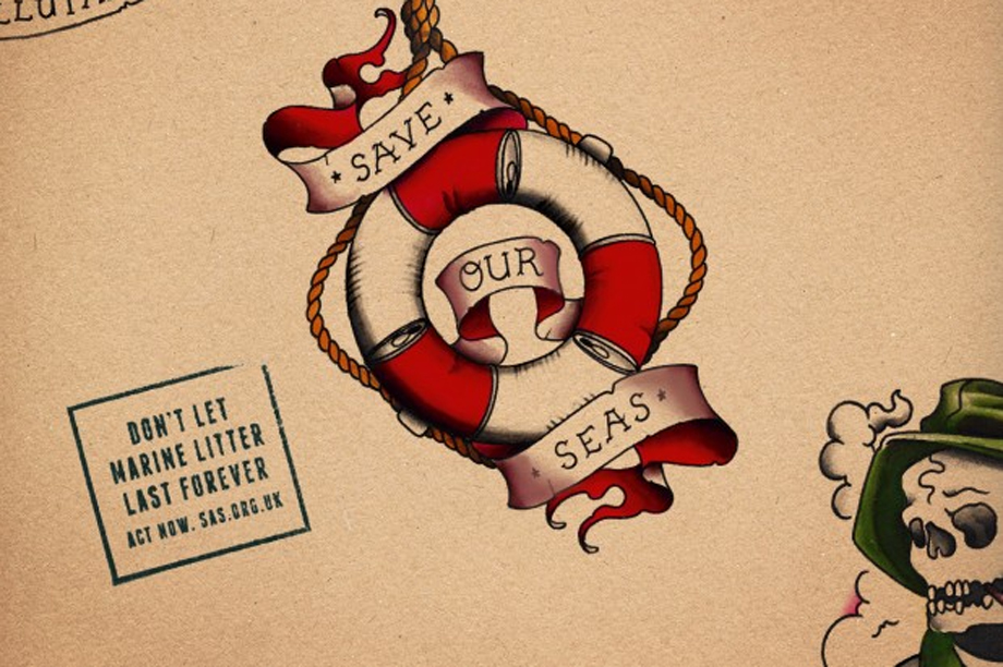 One of the images from Surfers Against Sewage's Save Our Seas campaign