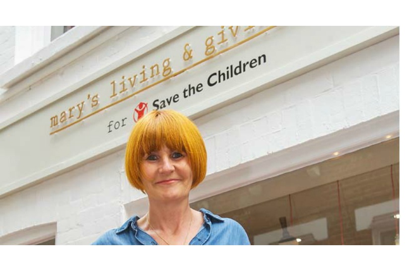 Retail expert Mary Portas helped Save the Children to set up Mary's Living & Giving shops