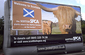 An inflatable SSPCA billboard