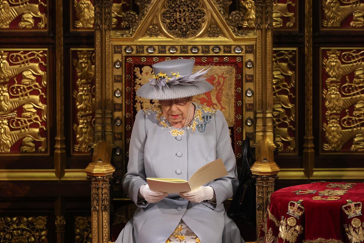 Queen Elizabeth II reads the Queen's Speech (Photograph: Chris Jackson/WPA Pool/Getty Images)